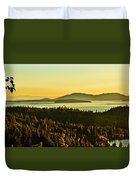 Sunrise Over Bellingham Bay Duvet Cover by Robert Bales
