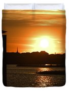 Sunrise Over Topsail Island Duvet Cover by Mike McGlothlen