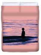 Sunset Art - Contemplation Duvet Cover by Sharon Cummings