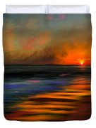 Sunset At Capo Beach In California Duvet Cover by Angela A Stanton