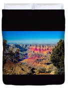 Sunset at South Rim Duvet Cover by Robert Bales