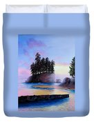 Sunset At Tongue Point Duvet Cover by Shelley Irish