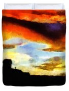 Sunset Colours Duvet Cover by Ayse Deniz