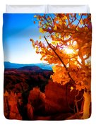 Sunset Fall Duvet Cover by Chad Dutson