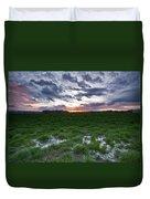 Sunset In The Swamp Duvet Cover by Eti Reid