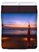 Sunset Lanta Island  Duvet Cover by Adrian Evans