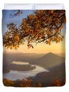 Sunset Light Duvet Cover by Debra and Dave Vanderlaan
