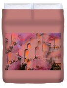 Sunset On Houses Duvet Cover by Augusta Stylianou