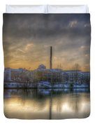 Sunset on the Esifabrik Duvet Cover by Nathan Wright