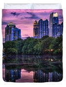 Sunset Over Midtown Duvet Cover by Doug Sturgess