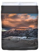Sunset Over The Dunes Duvet Cover by Adam Jewell