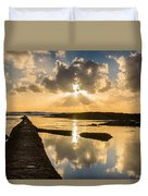 Sunset Over The Ocean I Duvet Cover by Marco Oliveira