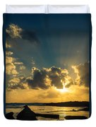 Sunset Over The Ocean Iv Duvet Cover by Marco Oliveira