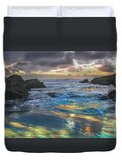 Sunset Reflections Duvet Cover by Robert Bales
