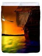 Sunset Sails Duvet Cover by Lourry Legarde