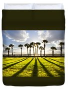 Sunset Sentinels Duvet Cover by Debra and Dave Vanderlaan