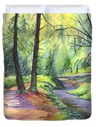Sunset Stroll  Duvet Cover by Carol Wisniewski