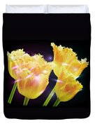 Sunshine Tulips Duvet Cover by Debra  Miller