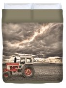 Superman Sepia Skies Duvet Cover by James BO  Insogna