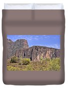 Superstition Wilderness Arizona Duvet Cover by Christine Till