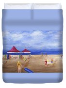 Surf Camp Duvet Cover by Jamie Frier