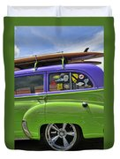Surf Wagon Duvet Cover by Kenny Francis
