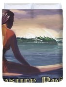 Surfer Girl Pleasure Point Duvet Cover by Tim Gilliland