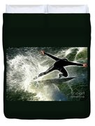 Surfing Usa Duvet Cover by Bob Christopher