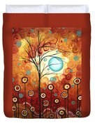 Surrounded By Love By Madart Duvet Cover by Megan Duncanson