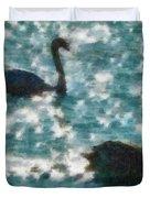 Swan Lake Duvet Cover by Ayse Deniz