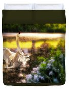 Swan Lake Duvet Cover by Lois Bryan