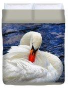 Swan Lake Duvet Cover by Mariola Bitner