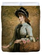 Sweet Emma Morland Duvet Cover by Sir John Everett Millais