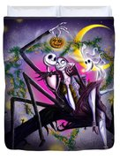 Sweet Loving Dreams In Halloween Night Duvet Cover by Alessandro Della Pietra