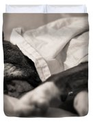 Sweet Sleeping Boxer Duvet Cover by Stephanie McDowell