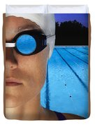Swimmer With Goggles Duvet Cover by Don Hammond