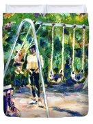 Swings Duvet Cover by Faye Cummings