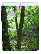 Swirled Forest 1 - Digital Painting Effect Duvet Cover by Rhonda Barrett