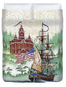 Symbols Of Our Heritage Duvet Cover by James Williamson