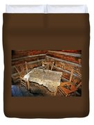Table For Three Duvet Cover by Marty Koch