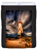 Talacre Lighthouse Duvet Cover by Adrian Evans
