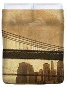 Tale of Two Bridges Duvet Cover by Joann Vitali