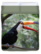 Talkative Toucan Duvet Cover by Ginny Barklow