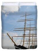 Tall Ship Mushulu at Penns Landing Duvet Cover by Bill Cannon