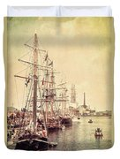 Tall Ships Duvet Cover by Joel Witmeyer