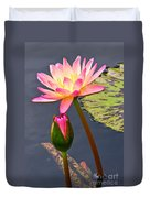 Tall Waterlily Beauty Duvet Cover by Byron Varvarigos