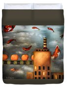 Tangerine Dream Edit 2 Duvet Cover by Leah Saulnier The Painting Maniac