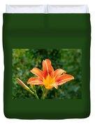 Tangerine Lily Duvet Cover by Will Borden