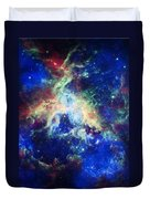 Tarantula Nebula 4 Duvet Cover by The  Vault - Jennifer Rondinelli Reilly