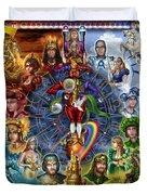 Tarot Of Dreams Duvet Cover by Ciro Marchetti